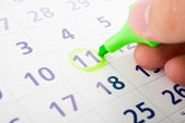 Planning of work time — Stock Photo