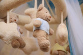Beautiful Small, beige teddy bears — Stock Photo
