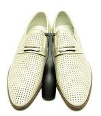 Man's shoes on white background — Stockfoto