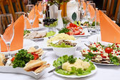 Food at a wedding party — Stock Photo