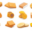 Stock Photo: Biscuits collage