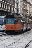 电车在米兰 — 图库照片