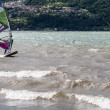 Windsurfing on the lake — Stock Photo