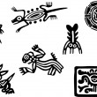Mexican and maya glyph — Stock Vector #11037345