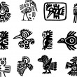 Mexican and maya glyph — Stock Vector #11037350