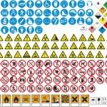 各种表和标志禁令和危险 — 图库矢量图片