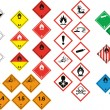 Stock Vector: Various hazard symbols