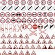 Stock Vector: Various road signs