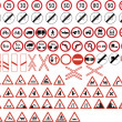 Various road signs — Stock Vector