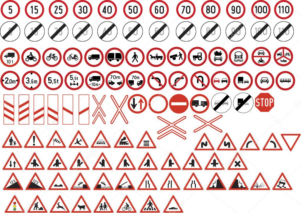 Collection of road signs  Stock Vector #11084306