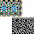 colorful islamic patterns — Stock Vector