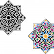 Stock Vector: Colorful round Islamic patterns