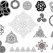 Various small ornaments and patterns - Stock Vector