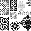 Various small ornaments and patterns — Stock Vector