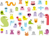 Various colorful monsters — Stock Vector