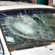 Stockfoto: Broken windshield