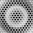Perforated metal — Stock Photo