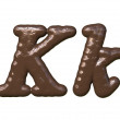 Chocolate Font — Stock Photo