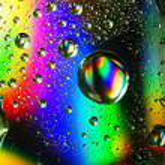 las gotas de agua colorida — Foto de Stock