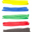 Set of color brush strokes — Stock Photo #10791306