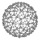 Abstract atom model — Stock Photo