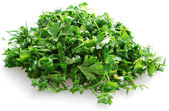 Chopped parsley and dill — Stock Photo