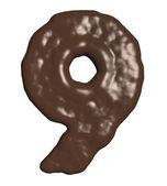 Número de chocolate — Foto de Stock