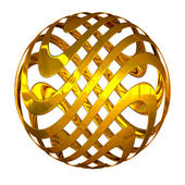 Abstract golden sphere — Stock Photo