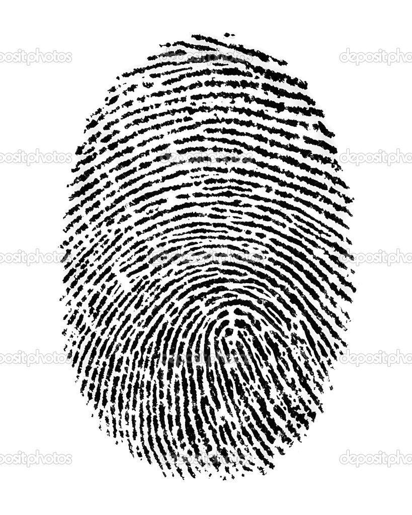 Finger Print - isolated on white background — Stock Photo #10790459