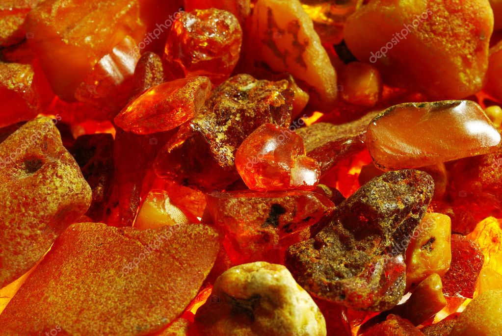 Background from stones of amber — Stock Photo #10790691