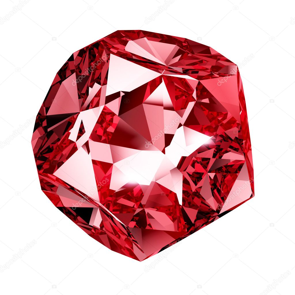Red crystal - isolated on white background  Stock Photo #10791394