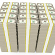 Dollar banknotes stacked — Stock Photo