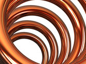 Copper helix — Stock Photo