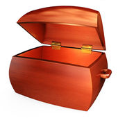 Wooden treasure chest — Stockfoto