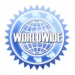 Worldwide shipping sticker — Stockfoto