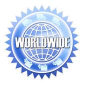 Worldwide shipping sticker — Stock Photo