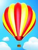 Montgolfière sur le ciel bleu — Photo