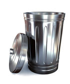 Steel trash can — Stock Photo