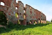 Ruins of Brandenburg castle in Ushakovo, Kaliningrad region. Rus — Stock Photo