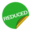 Stock Photo: Reduced price sticker