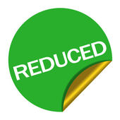 Reduced price sticker — Stock Photo