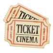 Vintage paper tickets — Stock Photo
