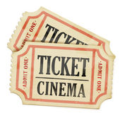 Vintage paper tickets — Stockfoto