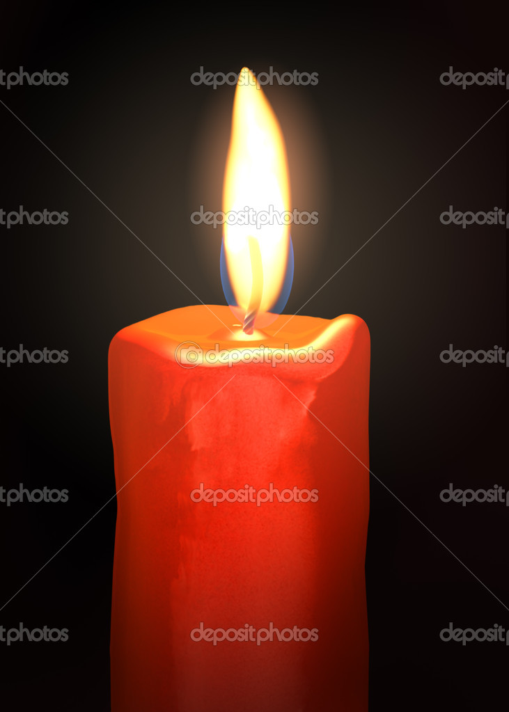 Flame of burning candle in the dark — Stock Photo #12071244