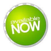 Available now green sticker — Stock Photo