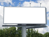 Billboard with empty screen — Stock Photo