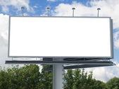 Billboard with empty screen — Stock Photo
