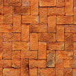 Texture of orange brick — Stock Photo