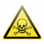 Skull danger signs — Stock Photo
