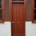 Wood door and vintage window — Stock Photo #11948561